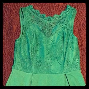 Francesca's Emerald Lace Dress